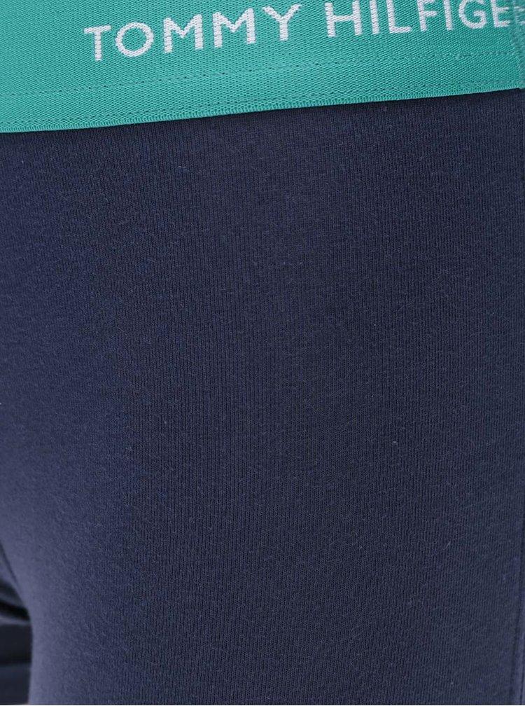 Sada tří tmavě modrých boxerek s barevnými lemy Tommy Hilfiger