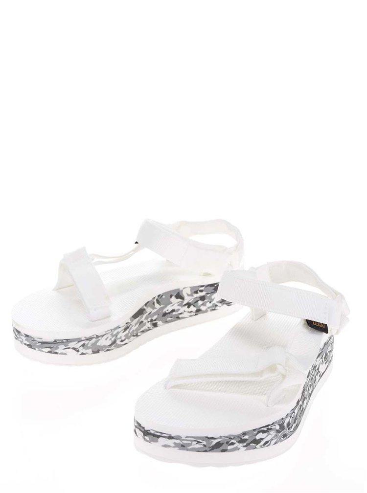 Bílé dámské sandály na platformě Teva