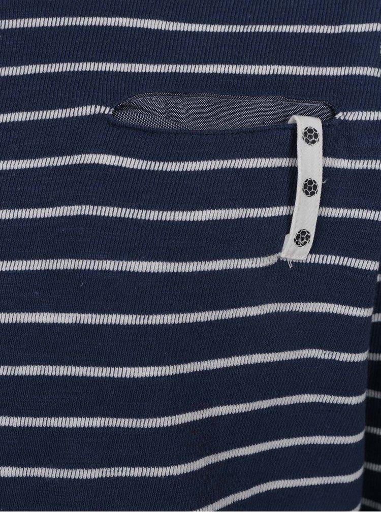 Tmavě modré  klučičí pruhované triko name it Hipe