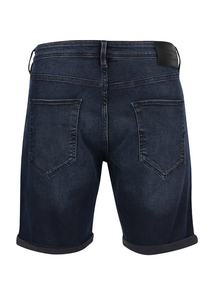 Tmavě modré džínové kraťasy Selected Homme Nalex