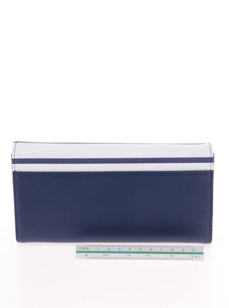 Portofel alb cu albastru LYDC