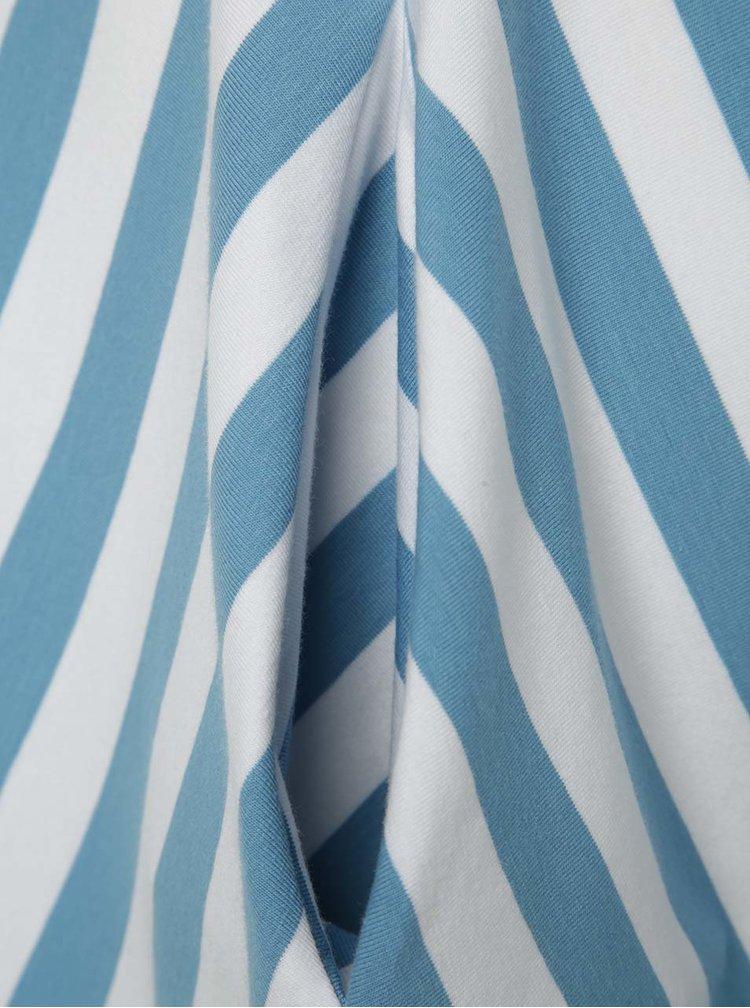 Rochie alb&albastru Miestni cu model în dungi