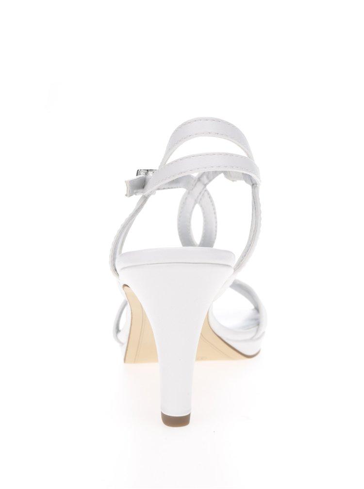 Sandale albe cu toc Tamaris