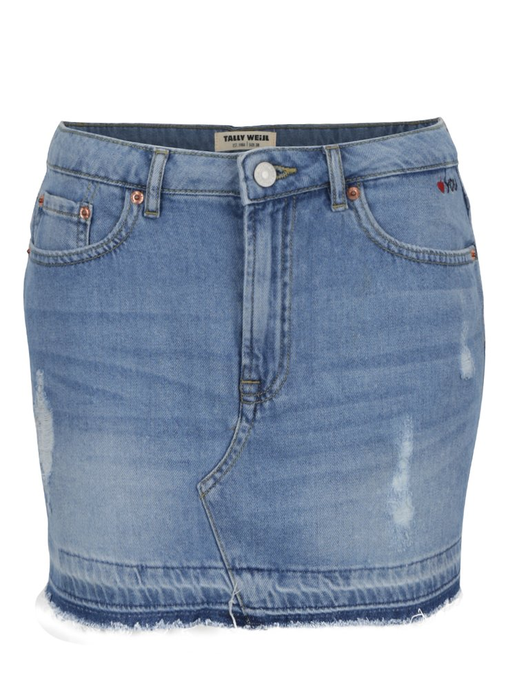 Modrá džínová mini sukně TALLY WEiJL