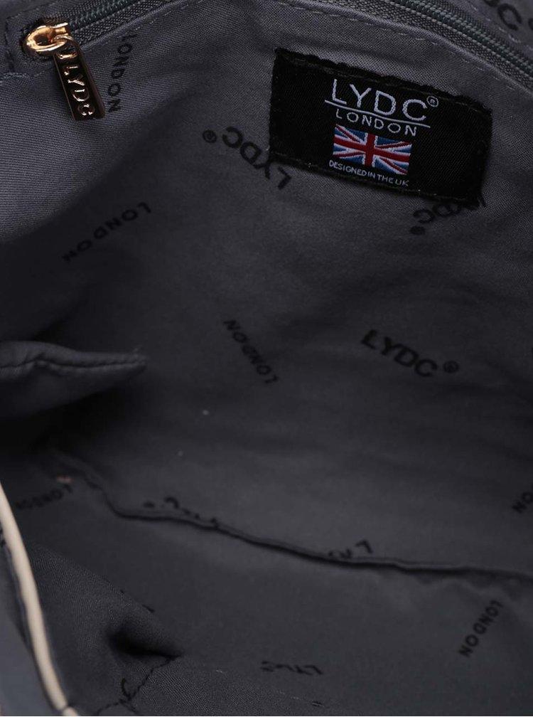 Krémovo-béžová crossbody kabelka se zipem ve zlaté barvě LYDC