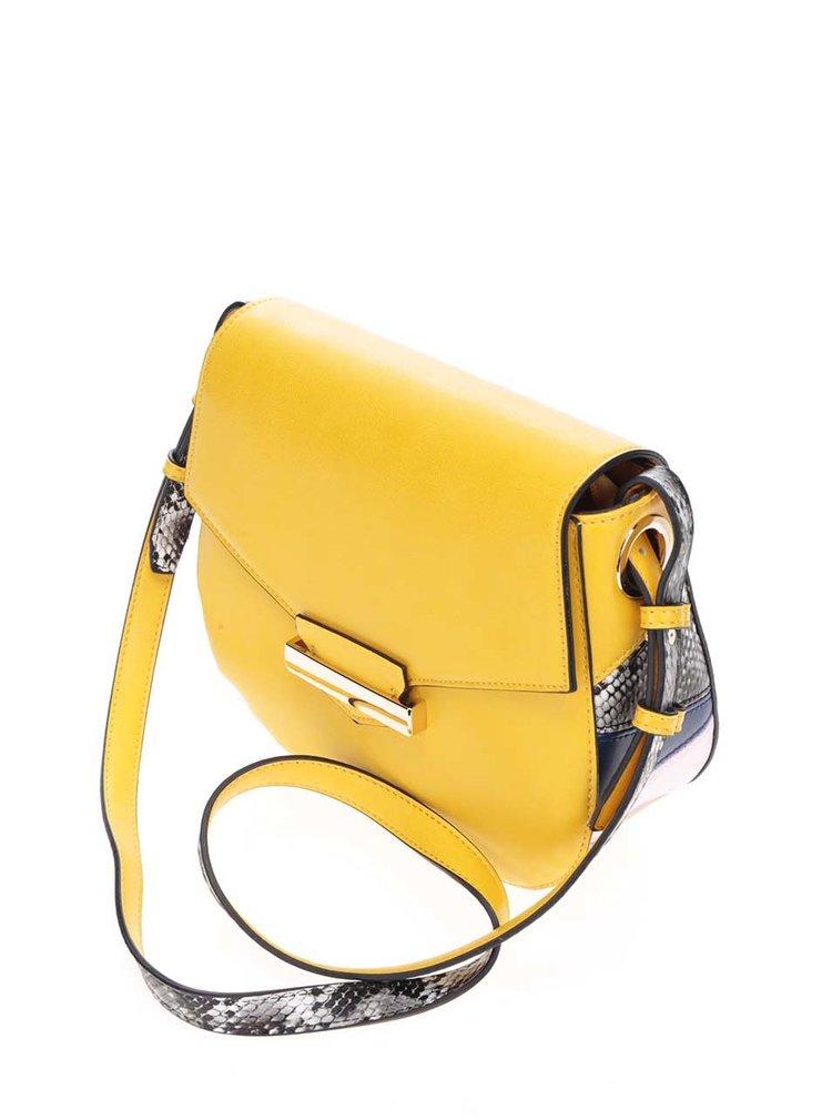 Žlutá crossbody kabelka s přezkou LYDC