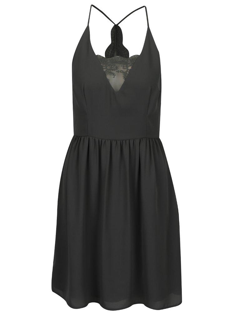 Černé šaty s krajkovými detaily ONLY Raya