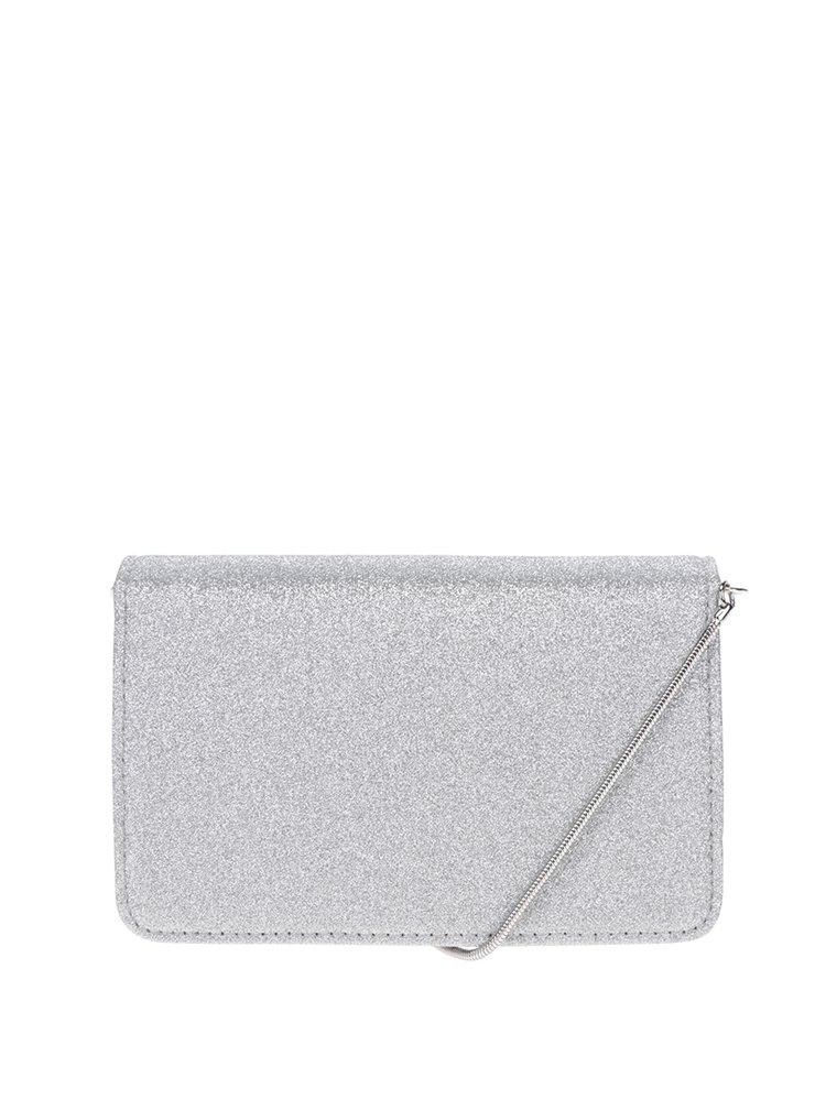 Malá crossbody kabelka/psaníčko ve stříbrné barvě Miss Selfridge