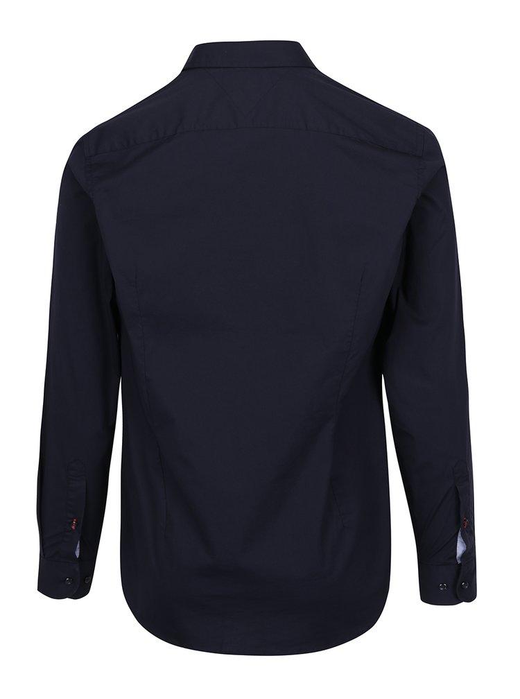 Tmavě modrá pánská formální slim fit košile Tommy Hilfiger