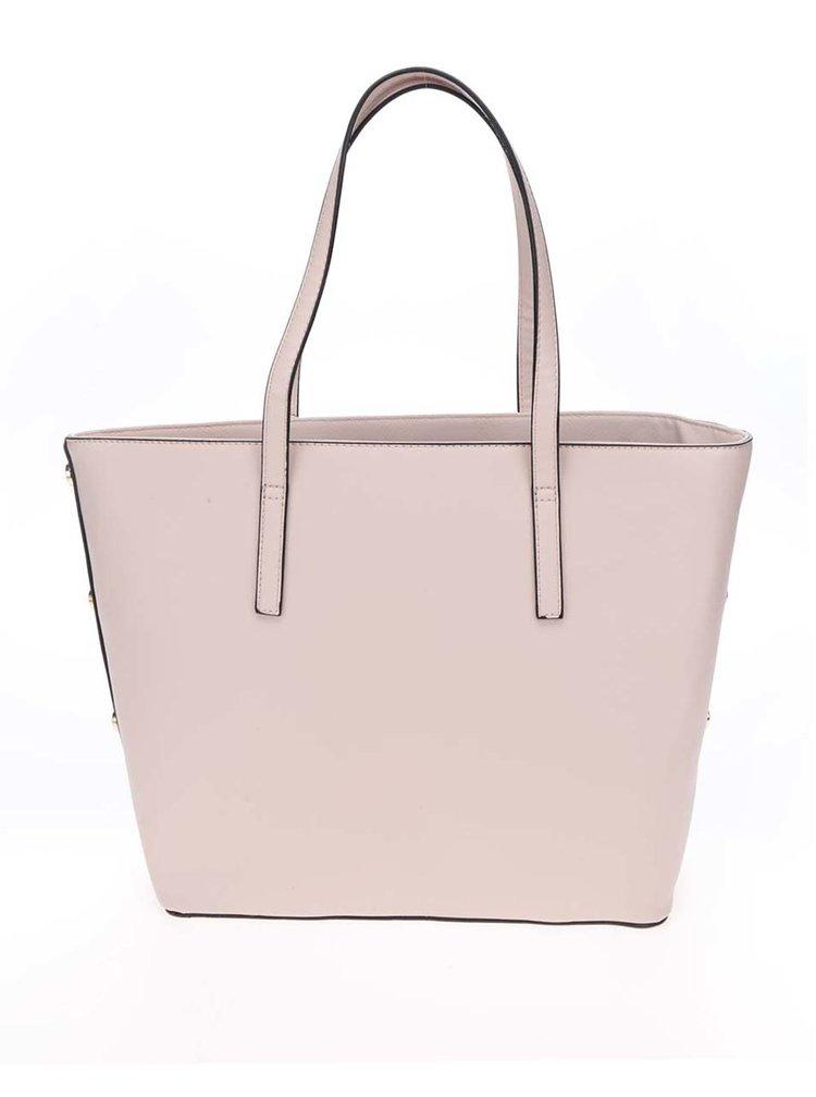 Geantă shopper roz pal  Miss Selfridge cu detalii aurii