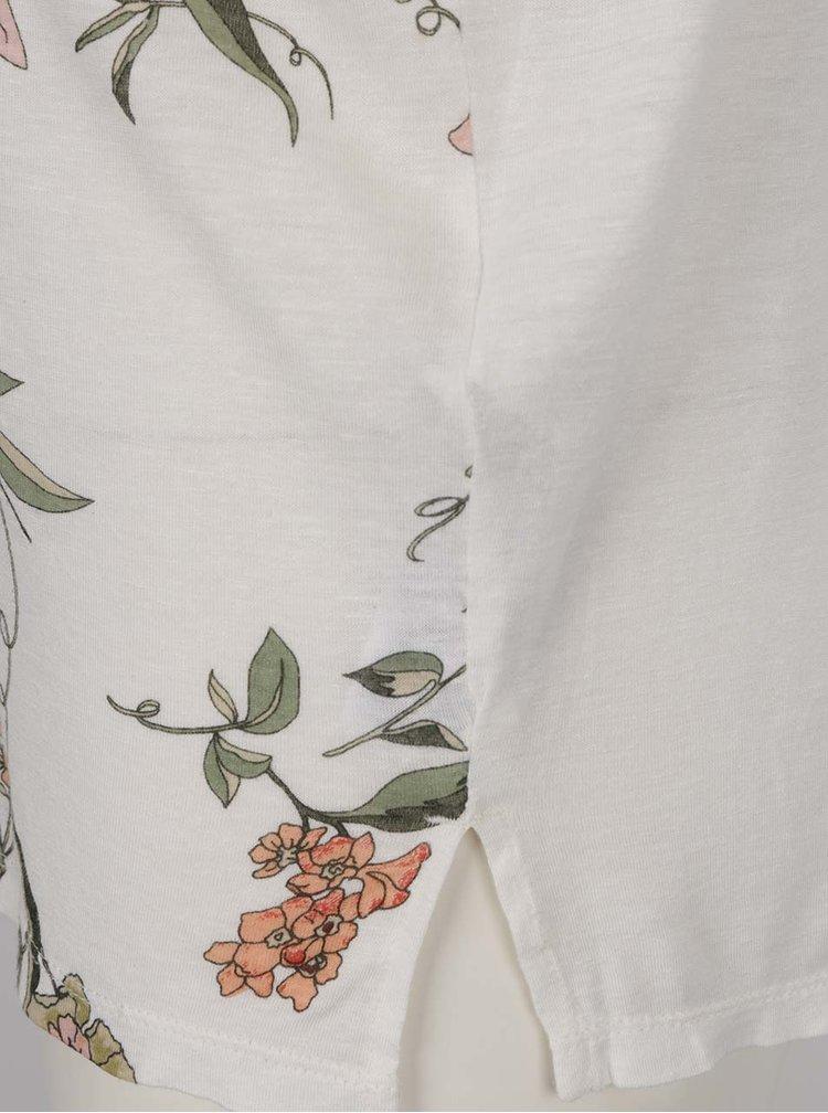 Tricou crem ONLY Iris cu imprimeu floral