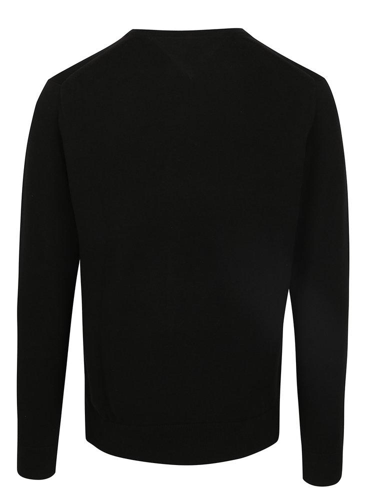 Černý pánský svetr s véčkovým výstřihem Tommy Hilfiger