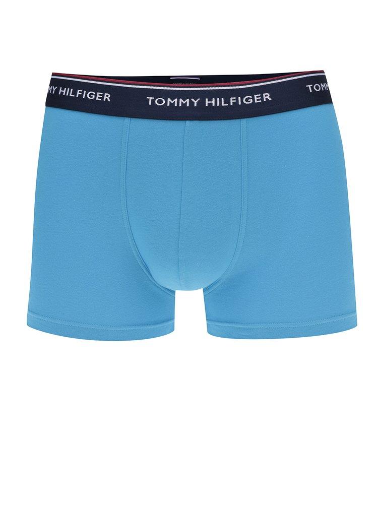 Sada tří boxerek v tyrkysové, modré a žluté barvě Tommy Hilfiger
