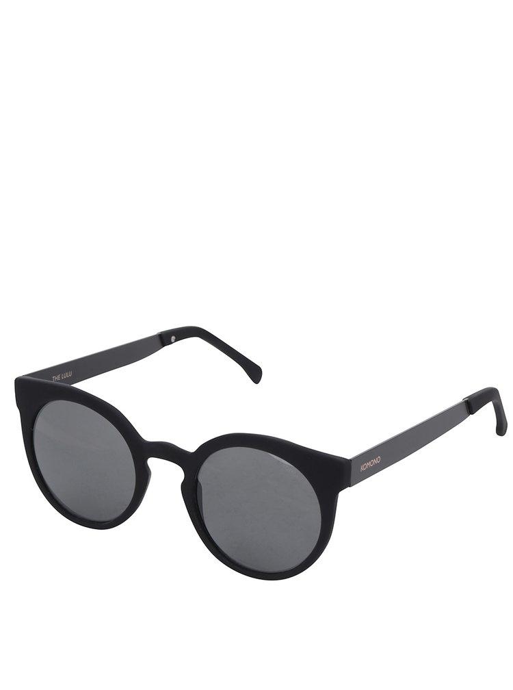 Černé dámské kulaté sluneční brýle Komono Lulu