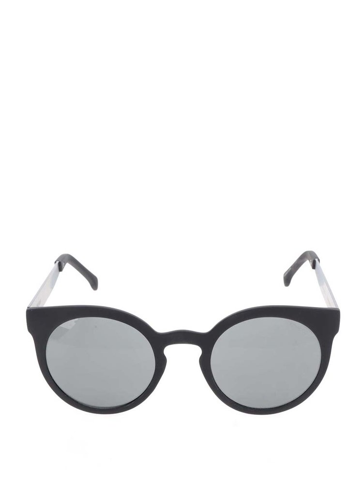 Ochelari de soare cu rama rotunda Negre Komono Lulu