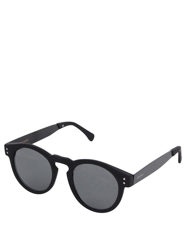 Černé unisex sluneční brýle Komono Clement