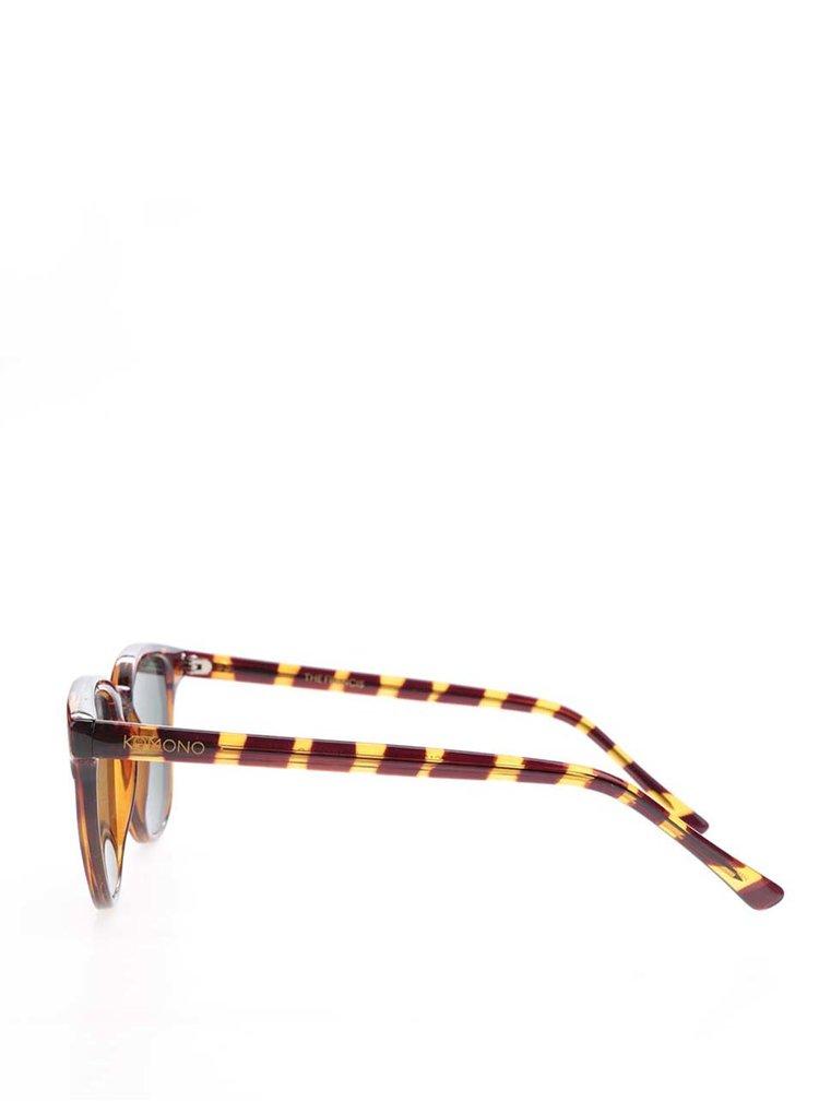 Hnědé vzorované dámské sluneční brýle Komono Francis