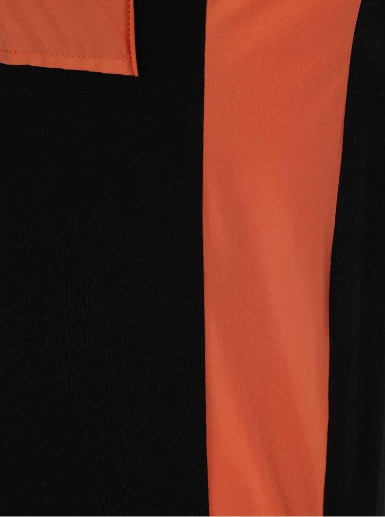 Oranžovo-černé šaty Alexandra Ghiorghie Lilian