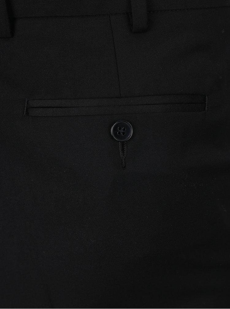 Pantaloni negri de costum cu croi slim Burton Menswear London