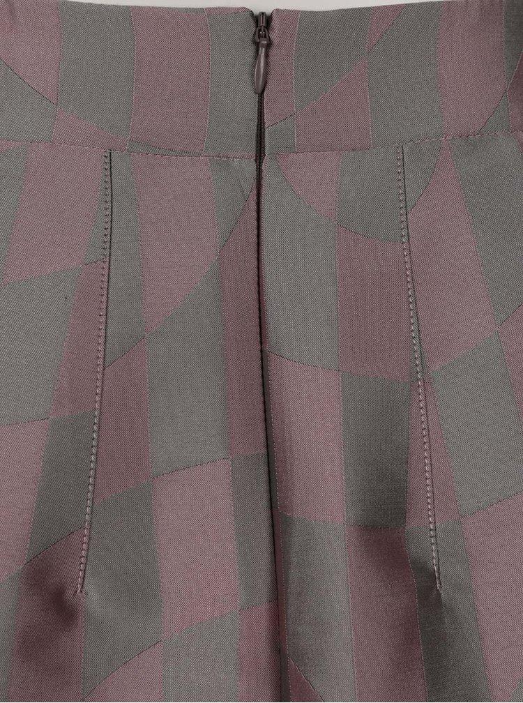 Zeleno-růžová hedvábná sukně Alexandra Ghiorghie Semina