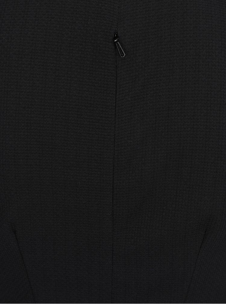 Černé překládané pouzdrové šaty Closet