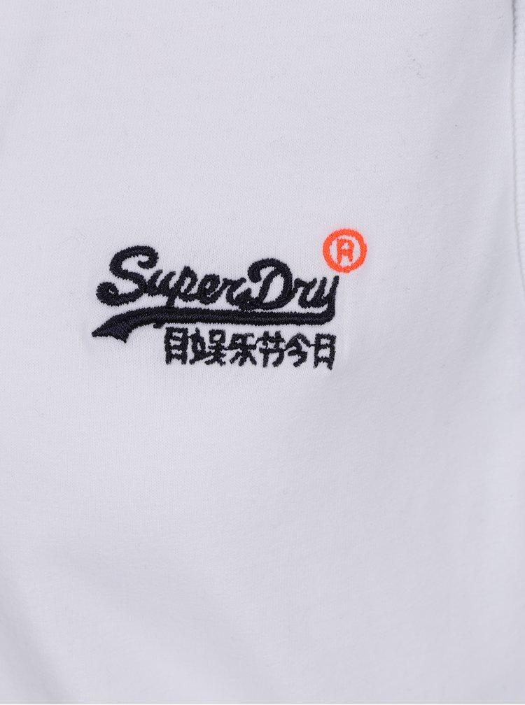 Bílé pánské tílko s výšivkou Superdry