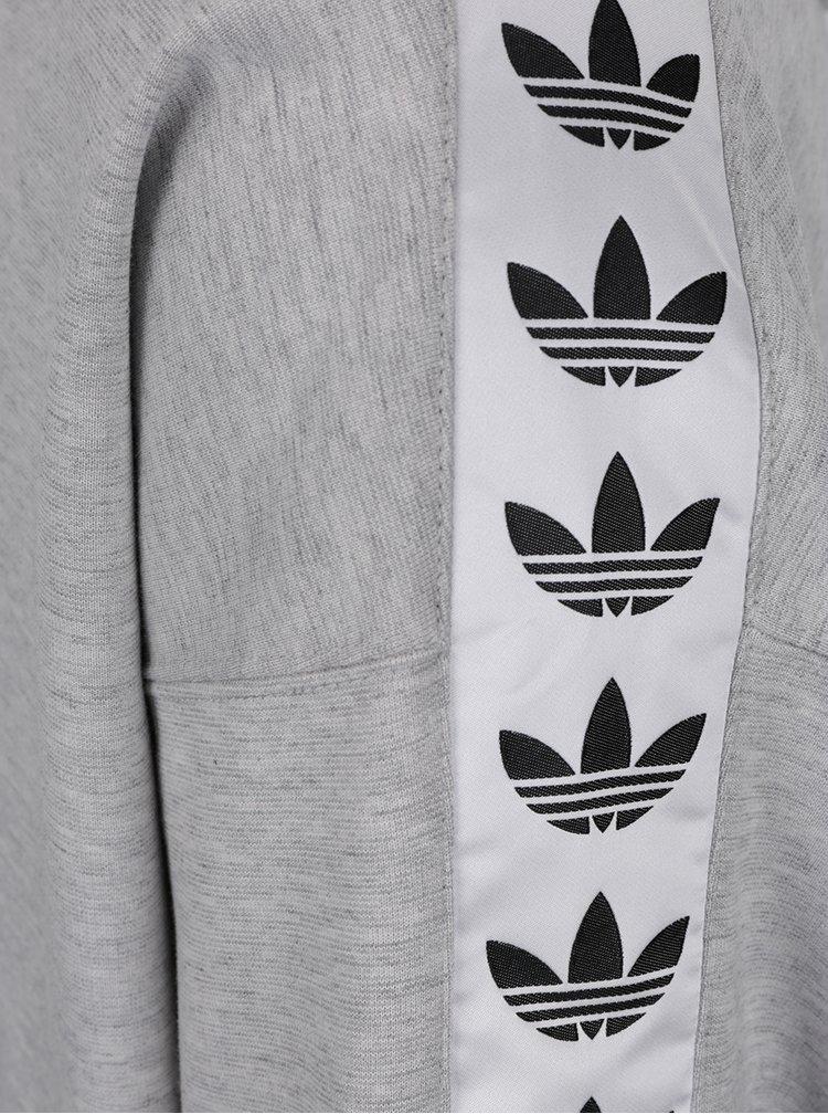 Hanorac gri cu print pe mâneci adidas Originals