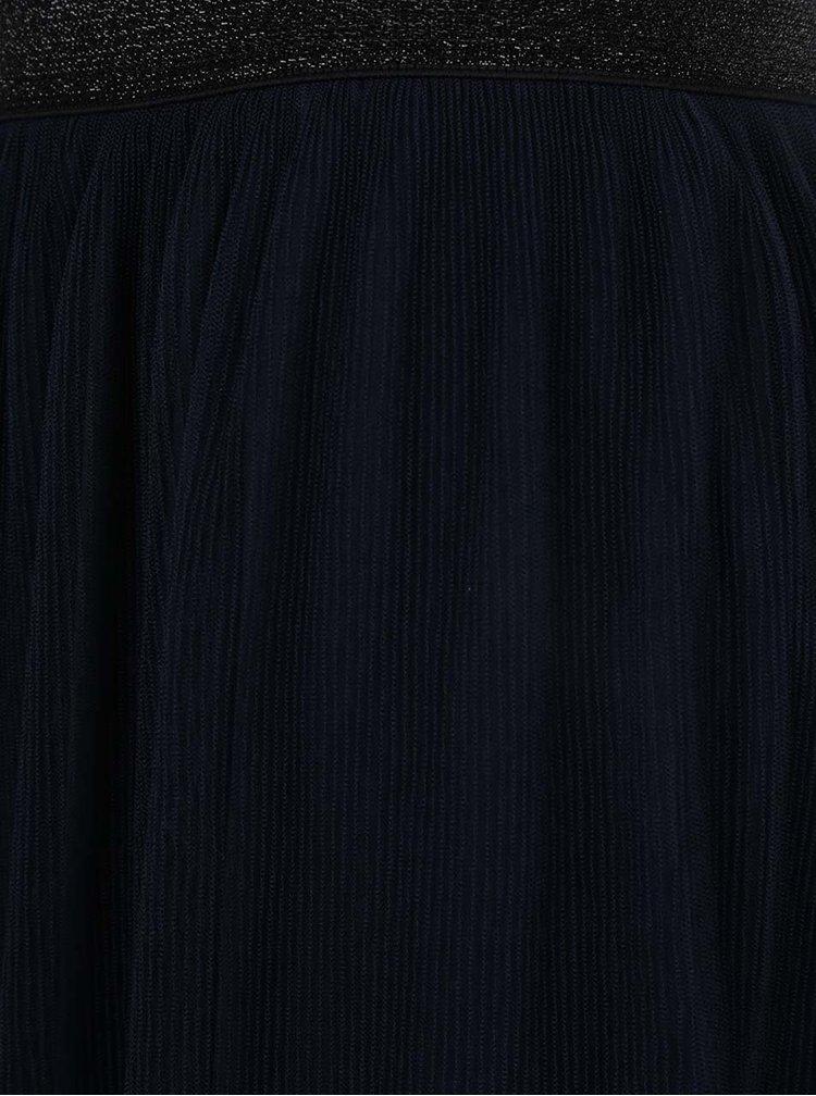 Tmavě modrá tylová sukně VERO MODA Masha