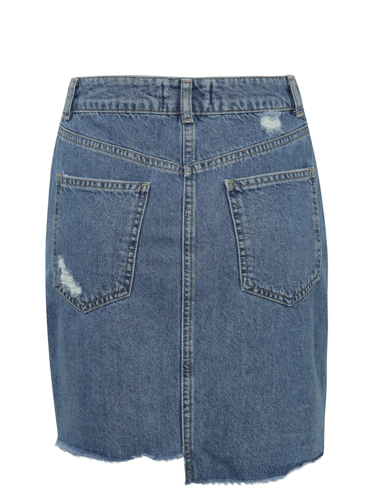 Fusta albastra Miss Selfridge din denim