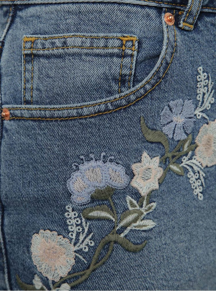 Pantaloni scurți albaștri Miss Selfridge din denim