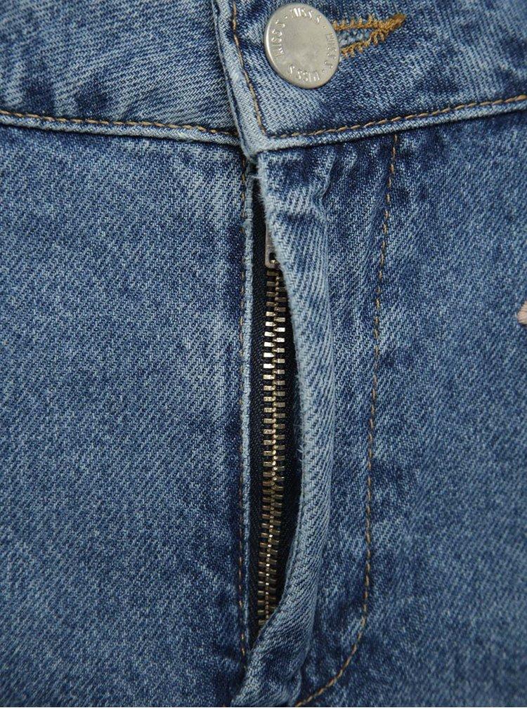 Modrá džínová sukně s výšivkami Miss Selfridge Petites