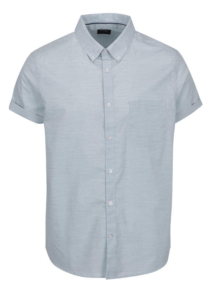 Světle modrá košile s jemným vzorem Burton Menswear London
