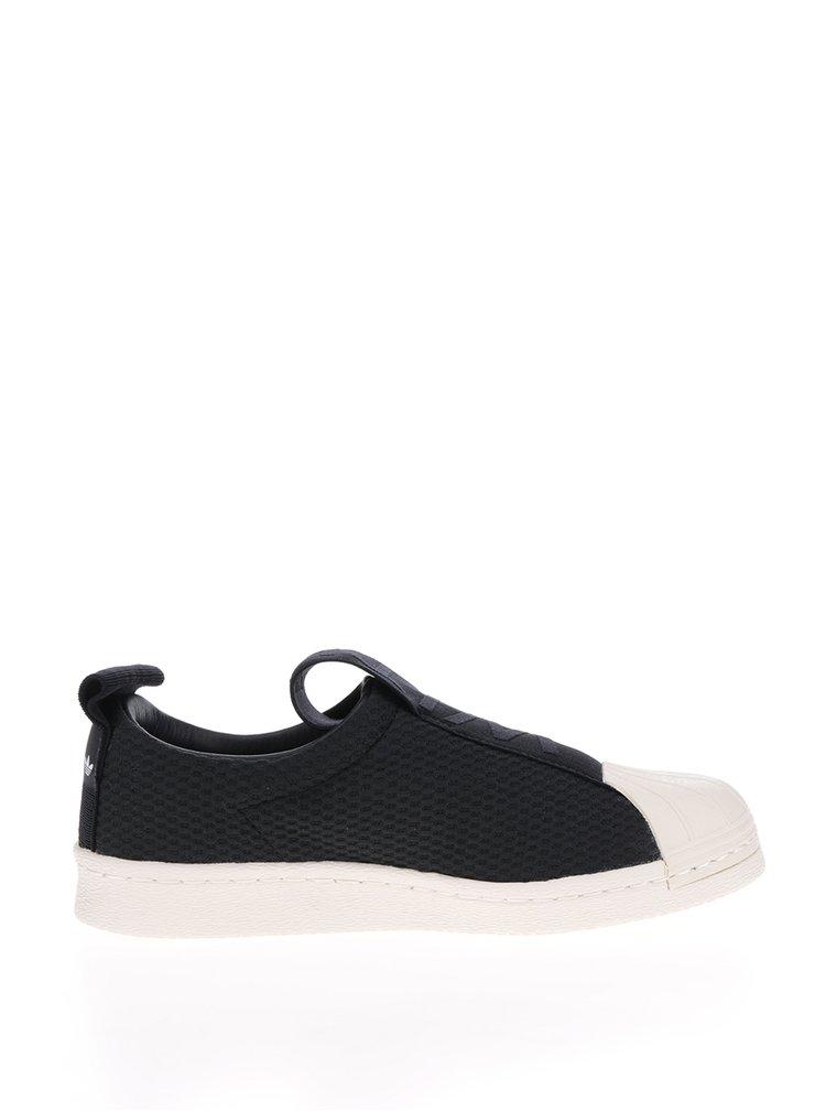 Pantofi sport alb cu negru pentru femei Adidas Originals Superstar