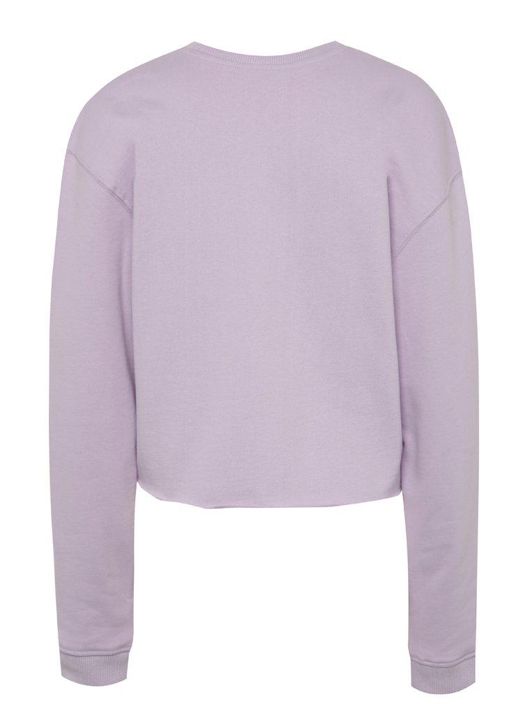Bluza violet deschis Miss Selfridge din bumbac