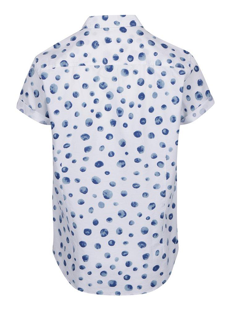 Bílá košile s modrým vzorem Burton Menswear London