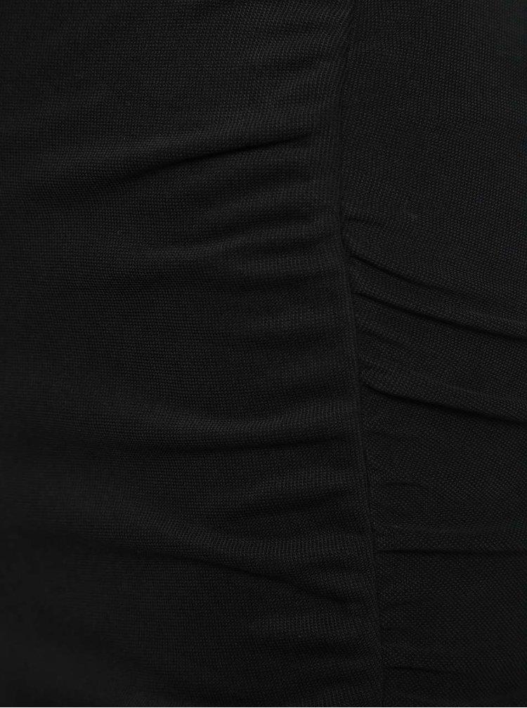 Černá sukně s řasením a rozparkem Miss Selfridge