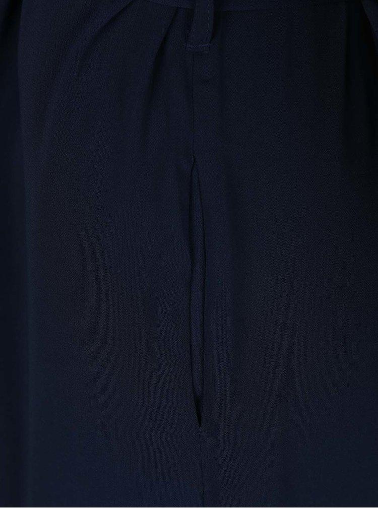 Trenci albastru inchis VERO MODA Maili cu guler cu revere ample