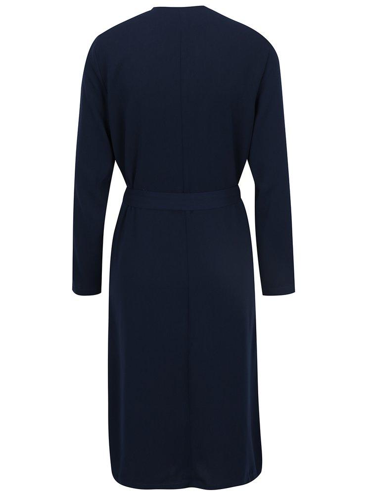 Tmavě modrý lehký kabátek s kapsami VERO MODA Maili