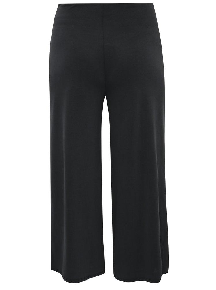 Tmavě šedé zkrácené culottes kalhoty Miss Selfridge
