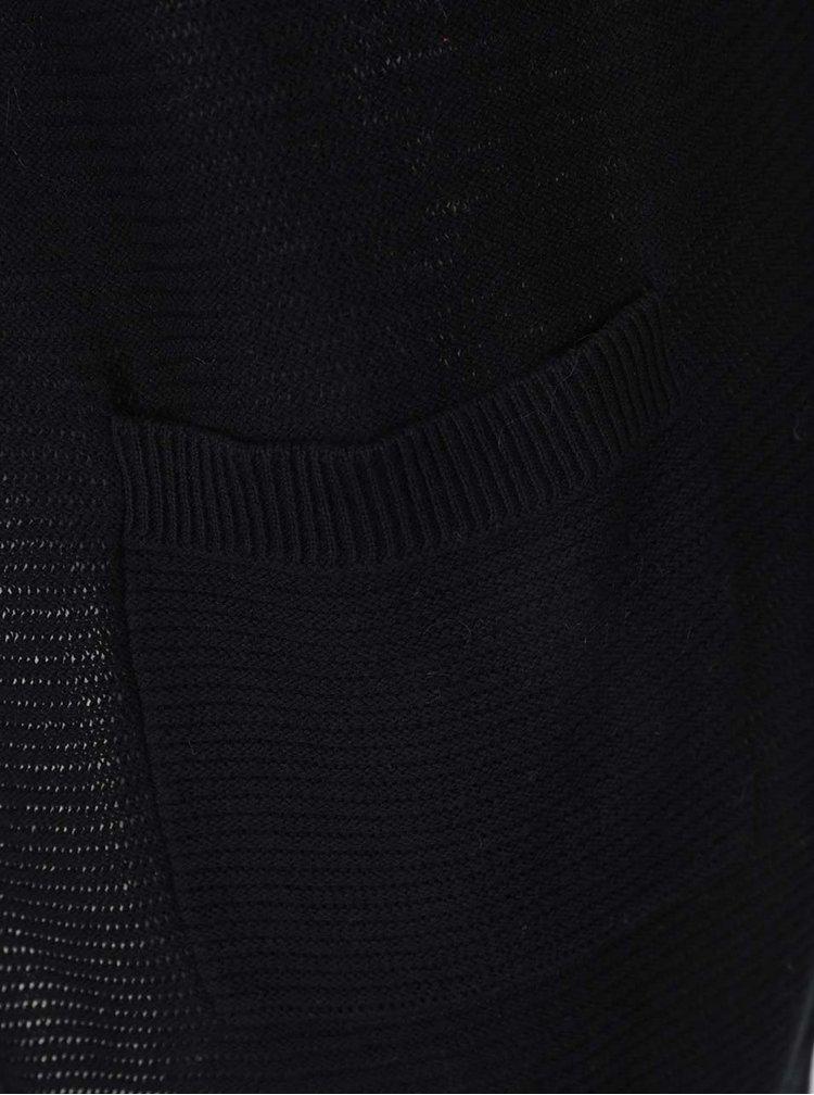 Cardigan negru VERO MODA Nice cu buzunare
