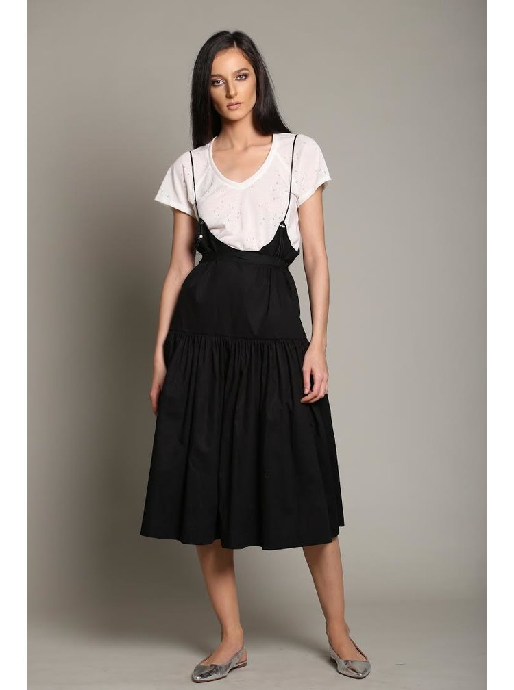 Černé šaty s nastavitelnými ramínky Silvia Serban