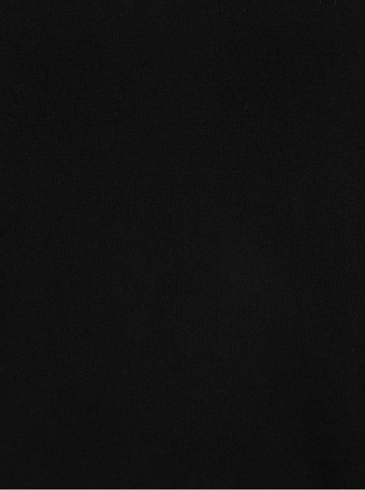 Černý svetr s průstřihem v dekoltu Noisy May Bound