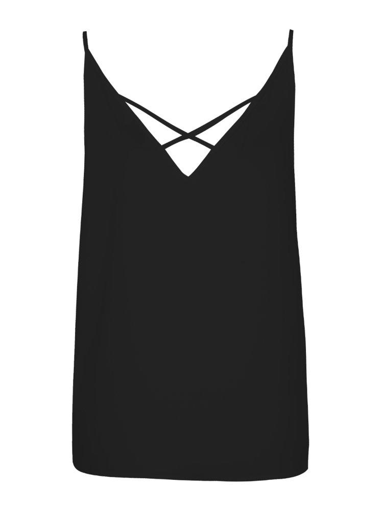 Top negru Miss Selfridge cu bretele încrucișate