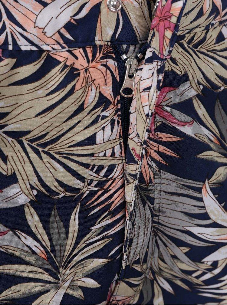 Bermude de plaja albastru inchis Burton Menswear London cu impriemu