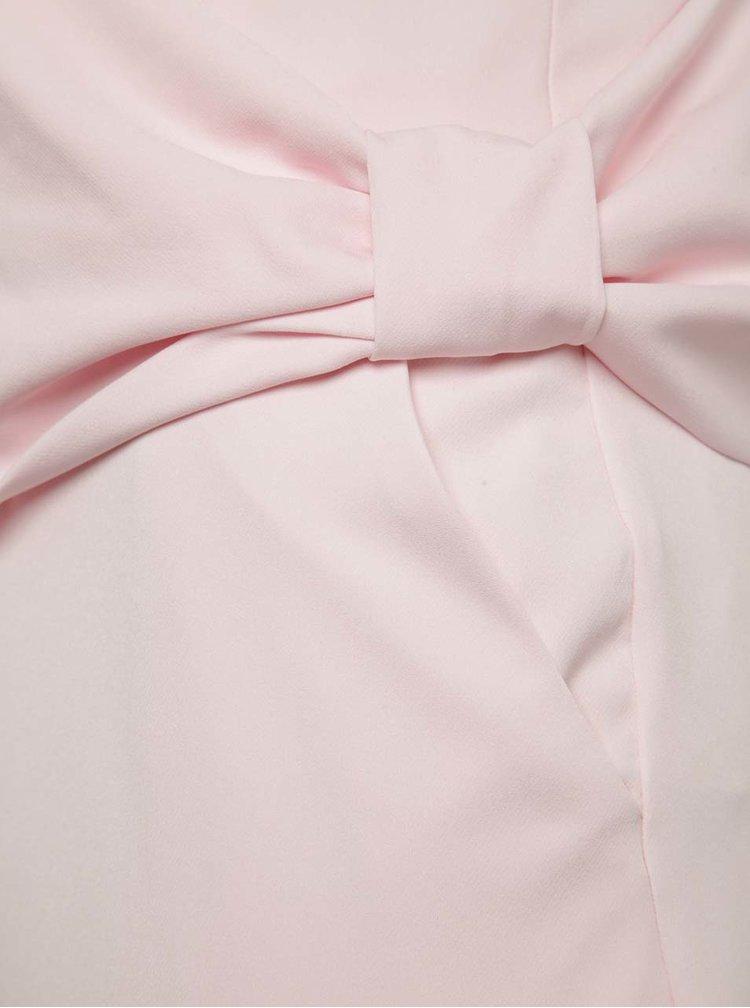 Světle růžový overal s korzetovým topem Miss Selfridge