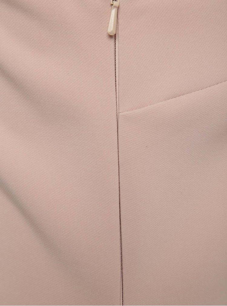 Růžové asymetrické šaty s volány Miss Selfridge