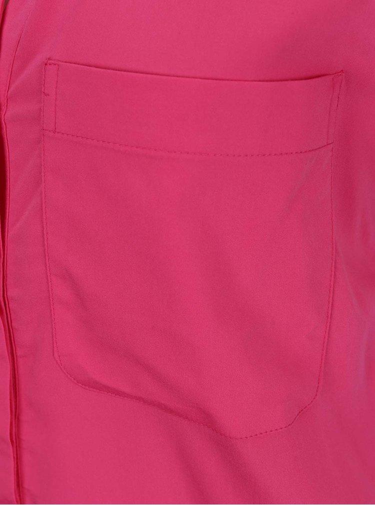 Camasa roz VERO MODA Erika cu buzunare pe piept