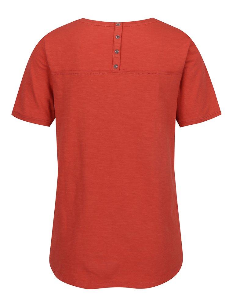 Červené dámské tričko s knoflíky na zádech s.Oliver