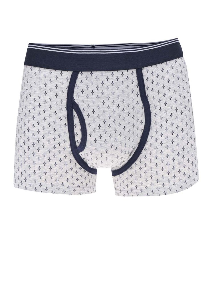 Set 3 perechi de boxeri albastri & gri Burton Menswear London cu model