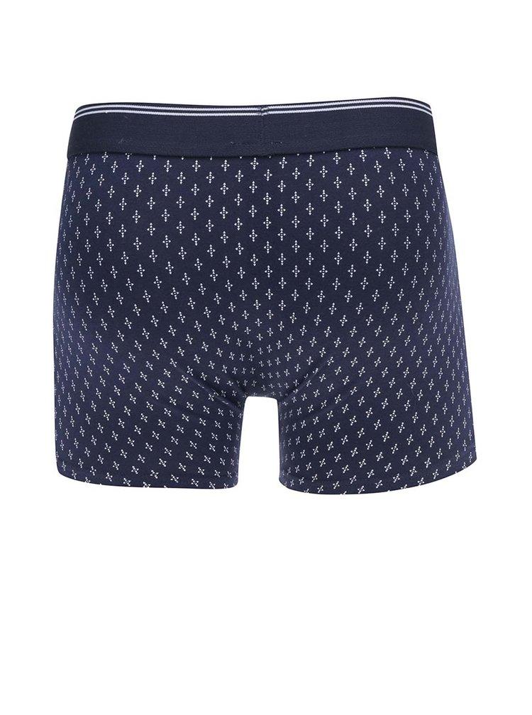 Set 3 perechi de boxeri albaștri & gri Burton Menswear London cu model